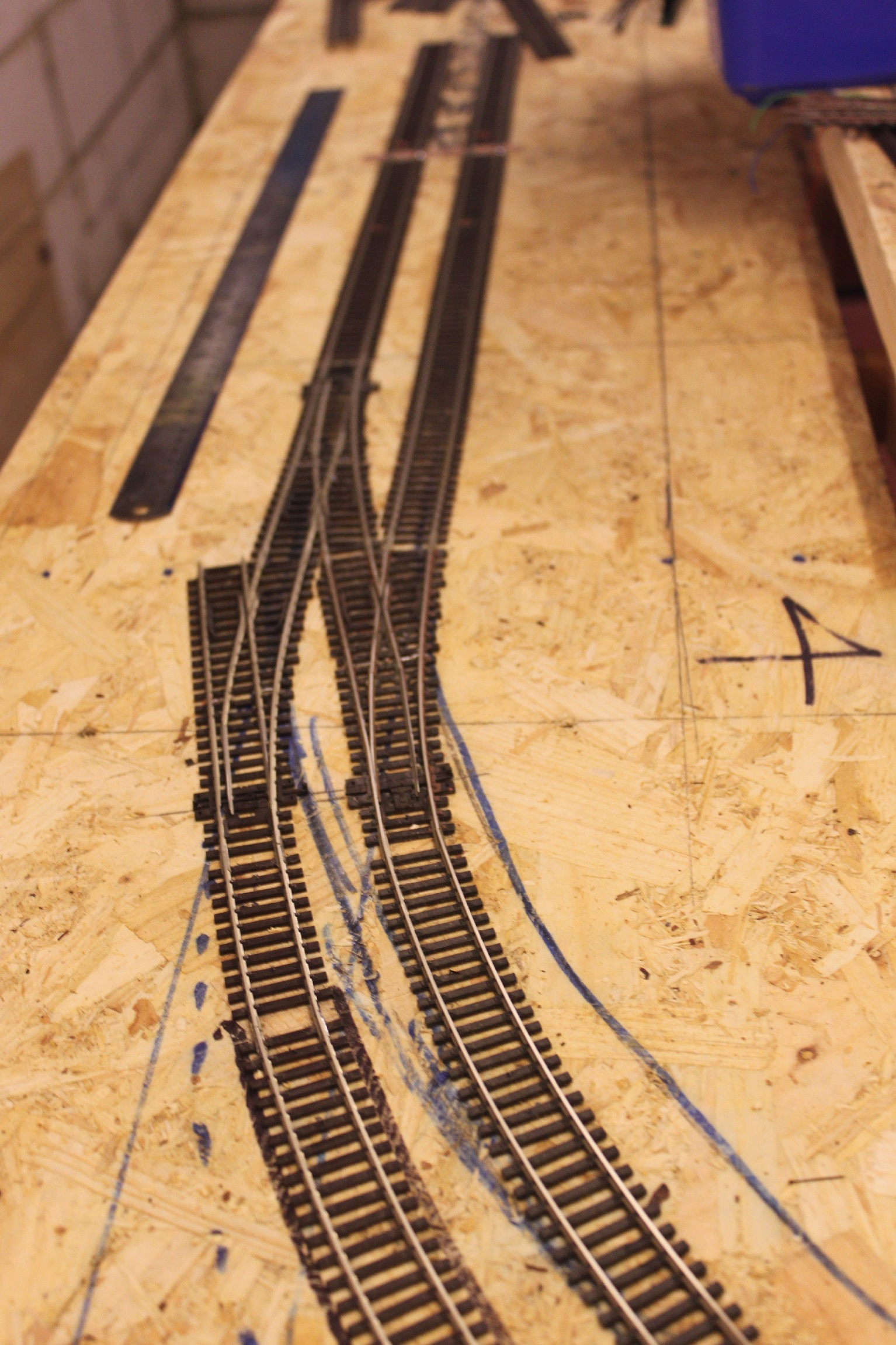 More track laying at one end of what will become the station throat