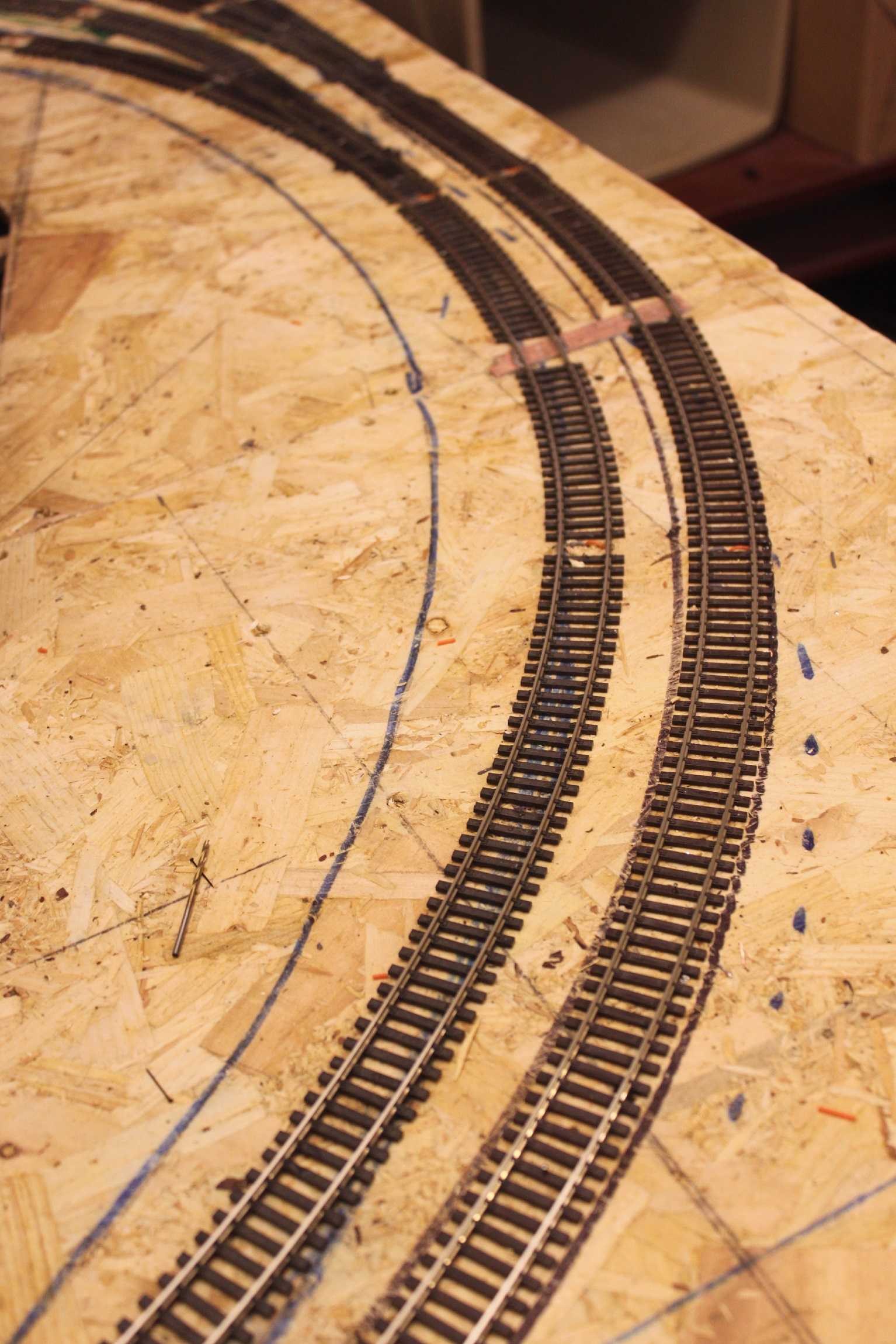 Track laying begins