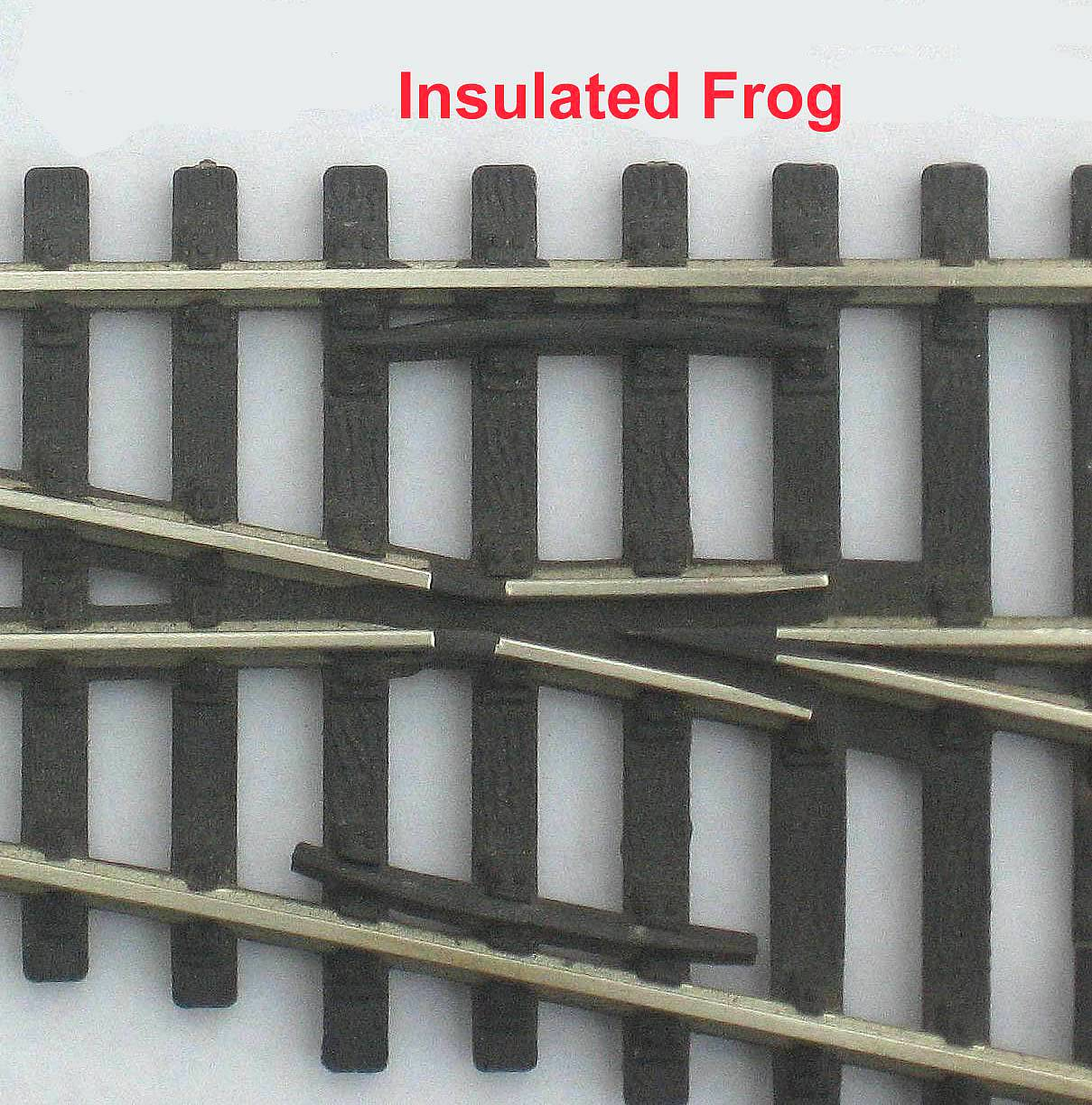 Insulated frog point