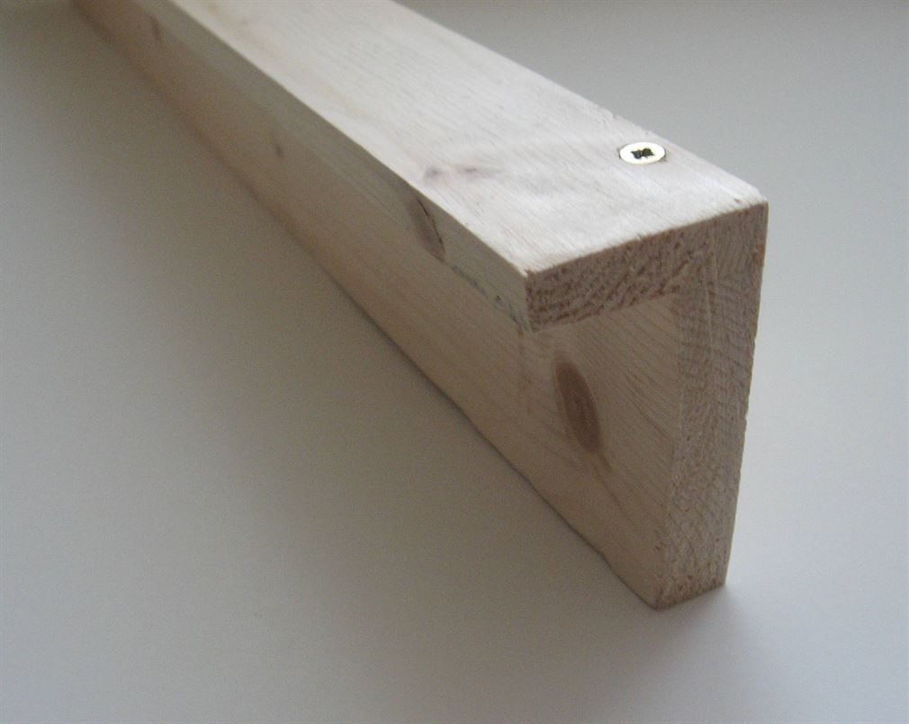 L shaped timber supports