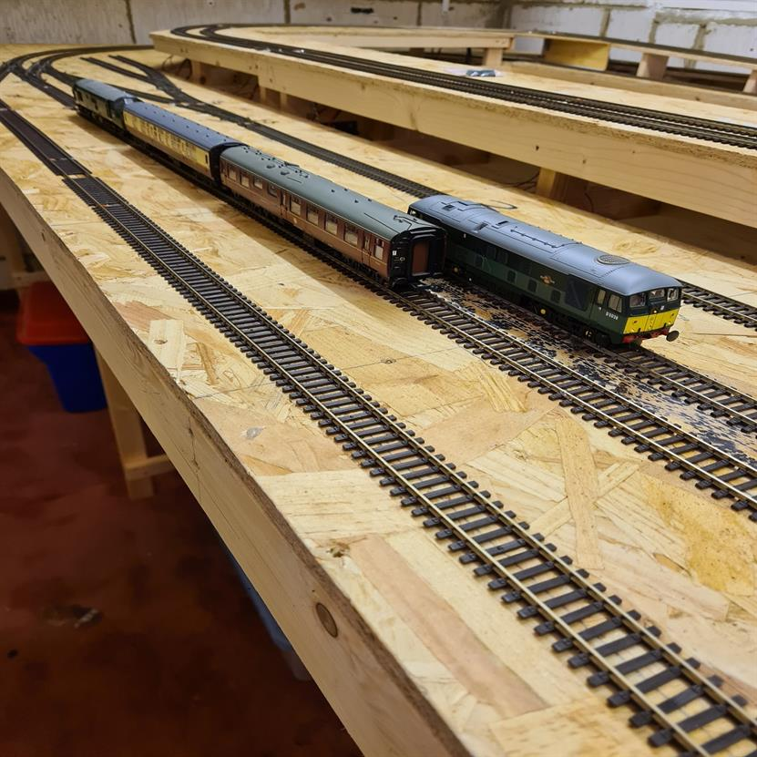 Another view of the first locos to run on the new layout
